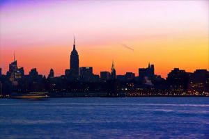 """A Coloful Morning"" (Hudson River, NYC)"